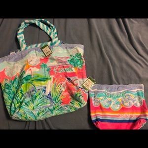 Lilly Pulitzer Kiawah tote and clutch set